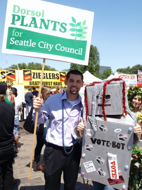 VoteBot with City Council candidate Dorsol Plants