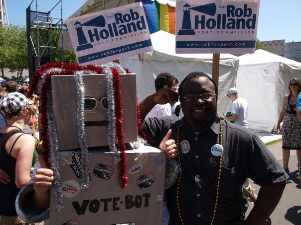 VoteBot with Port Commission candidate Rob Holland