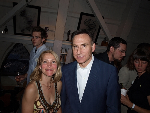 Charming host Petra and King County Councilman/candidate for Executive Dow Constantine.