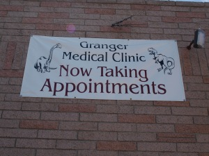 Granger Medical: Now taking appointments FROM DINOSAURS!