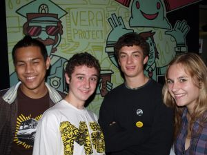 Sonny, Gabe, Addis and Cedar - 4/5ths of the organizing team